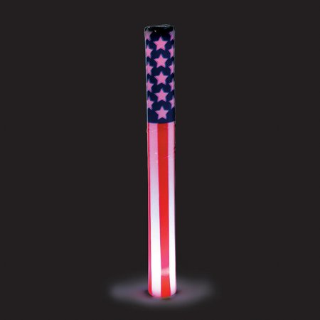 Fun Express - Patriotic Lt Up Baton White 1pc for Fourth of July - Toys - Value Toys - Light Up Toys - Fourth of July - 1 Piece Patriotic Lt Up Baton White 1pc for Fourth of July - Toys - Value Toys - Light Up Toys - Fourth of July - 1 Piece
