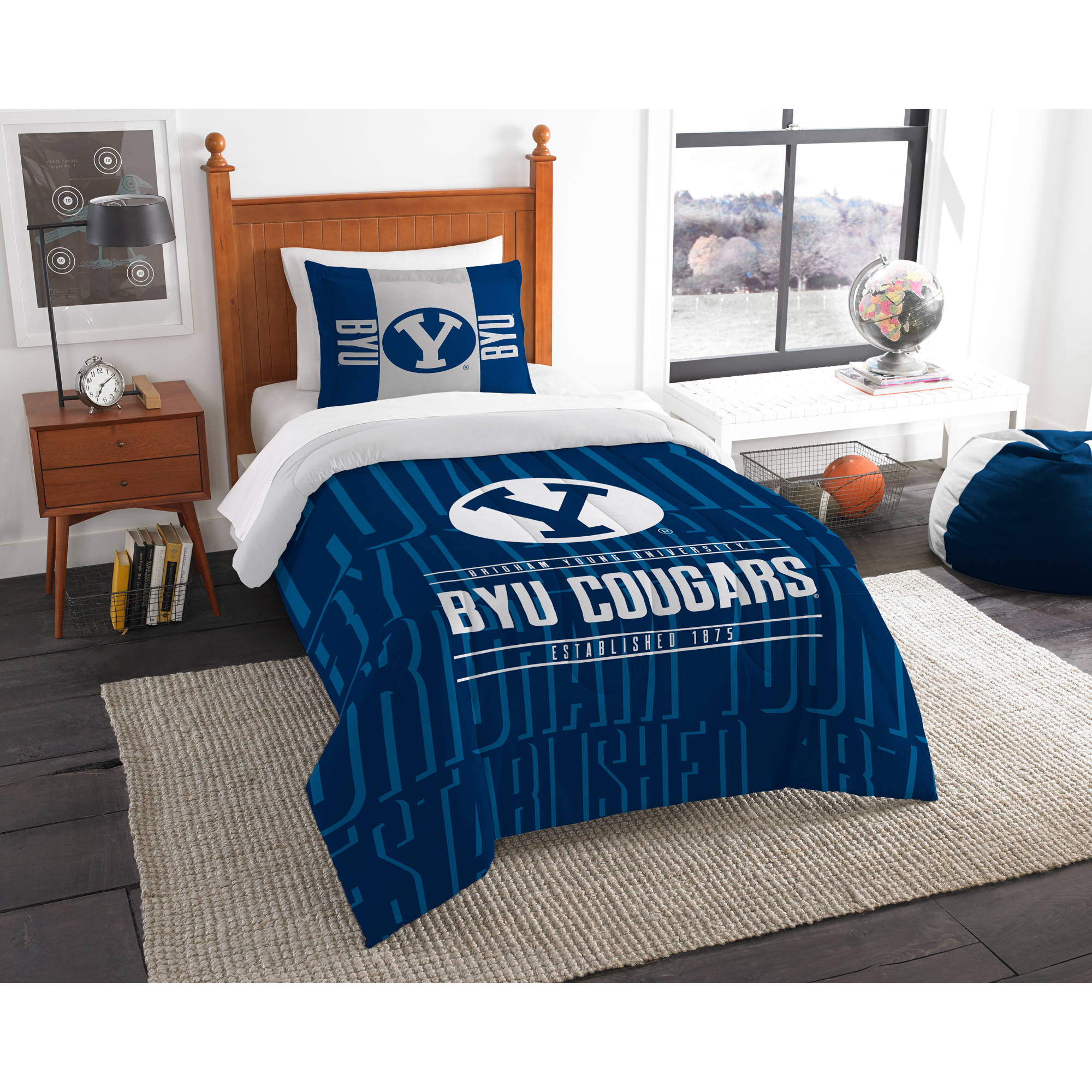 "NCAA BYU Cougars ""Modern Take"" Bedding Comforter Set"