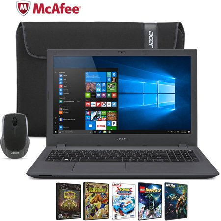 Acer Aspire E15 E5 522 89W6 15 6  Laptop Bundle  Windows 10 Home  Amd A8 7410 Processor  4Gb Ram  500Gb Hard Drive