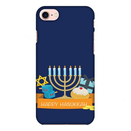 iPhone 7 Case, Premium Handcrafted Designer Hard Shell Snap On Case Shockproof Printed Back Cover with Screen Cleaning Kit for iPhone 7 -Hanukkah 2 , Slim, Protective](Hanukkah Accessories)