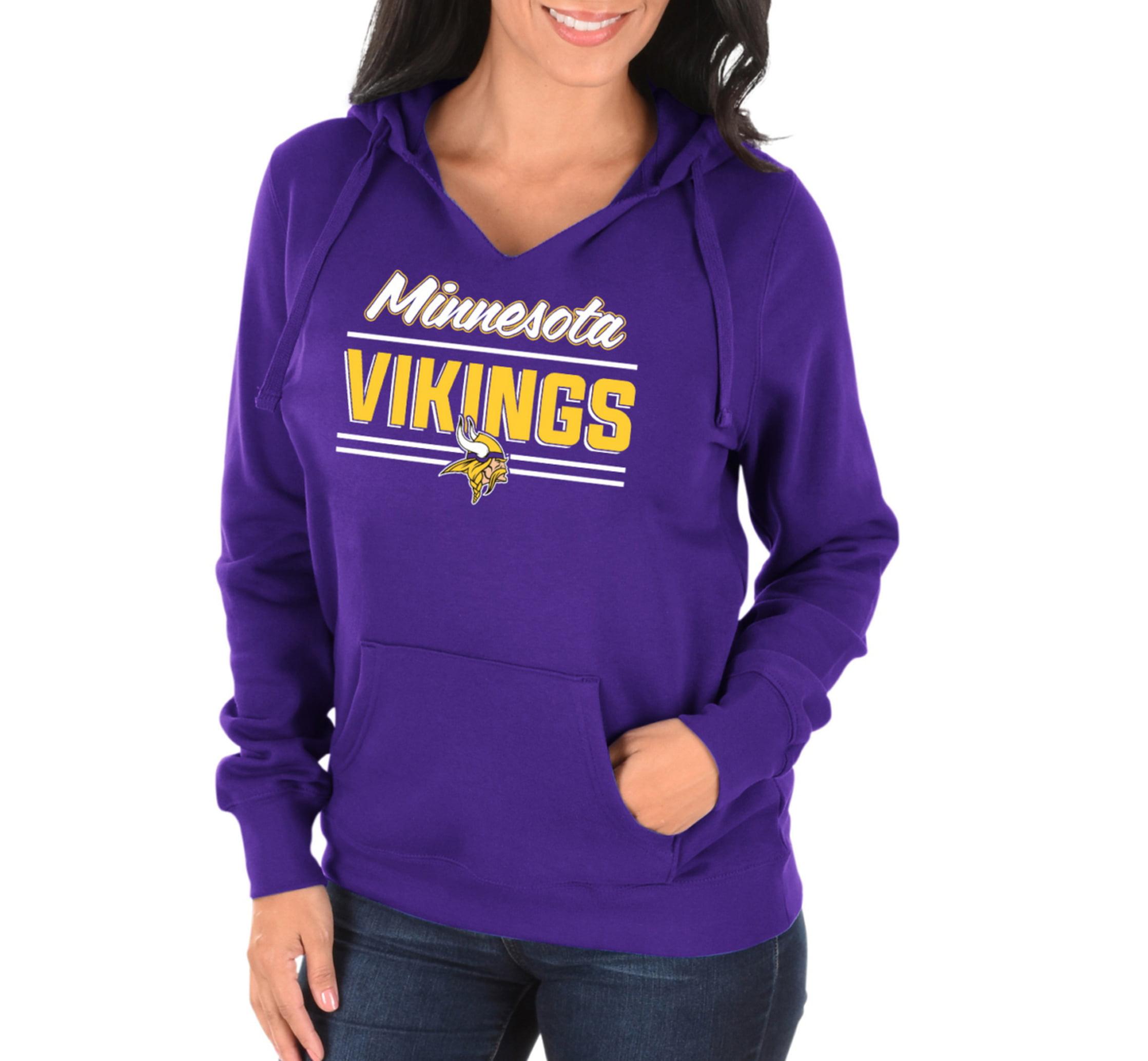 best website 9dcc8 5469c NFL Minnesota Vikings Shape it Up Women's Split Neck Hoodie