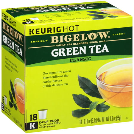 - (5 Boxes) Bigelow Green Tea Coffee Podss, 18 pods