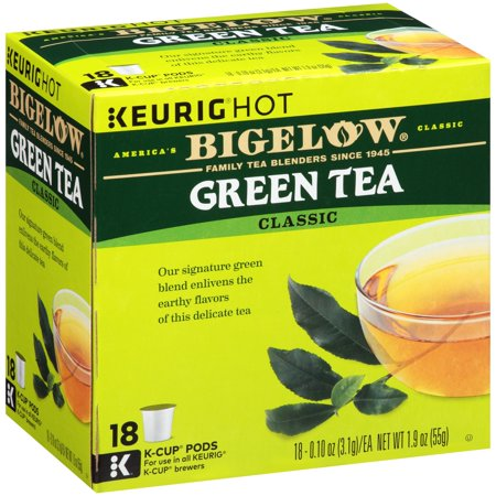 (5 Boxes) Bigelow Green Tea Coffee Podss, 18 pods