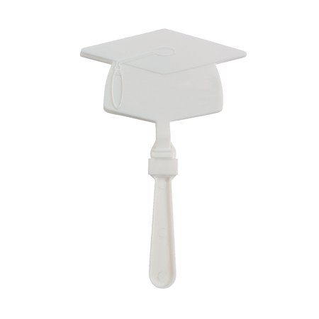 Fun Express - White Mortar Board Clapper for Graduation - Toys - Noisemakers - Hand Clappers - Graduation - 12 Pieces