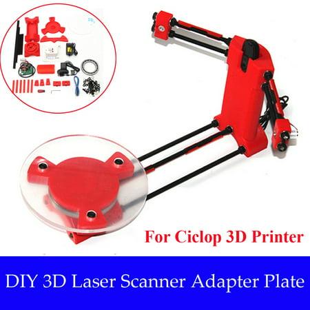 Red Laser Kit (Red 3D Desktop Laser Scanner DIY Kit with Adapte for Scanning Ciclop 3D Printer Objects )