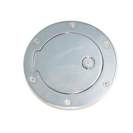 ALL SALES 6047PL 13-C RAM 1500/2500/3500(EXCEPT DUALLY) POLISHED ALUMINUM LOCKING FUEL DOOR Billet Locking Fuel Door