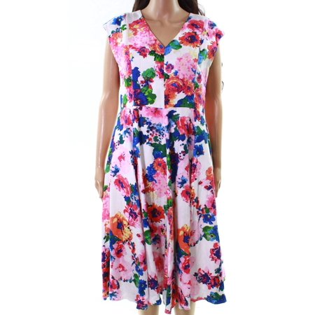 Lord And Taylor Women's Medium Context Pretty Petal A-Line - Lord And Taylor Dresses Clearance