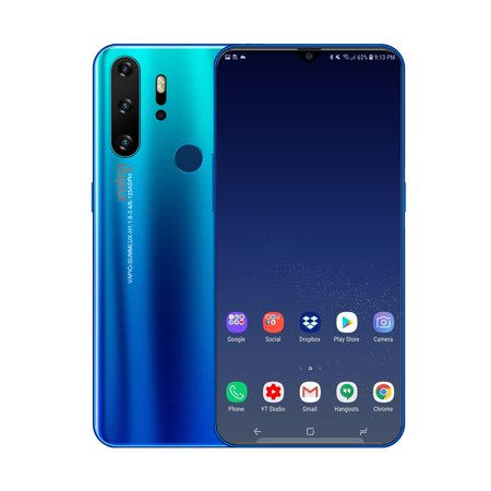 Indigi P1 SmartPhone, 6.3-inch HD, Android 9.1 OS, 10Core CPU, 6GB RAM & 4800mAh (Blue, 128GB) + Btooth (Best Music App For Android India)