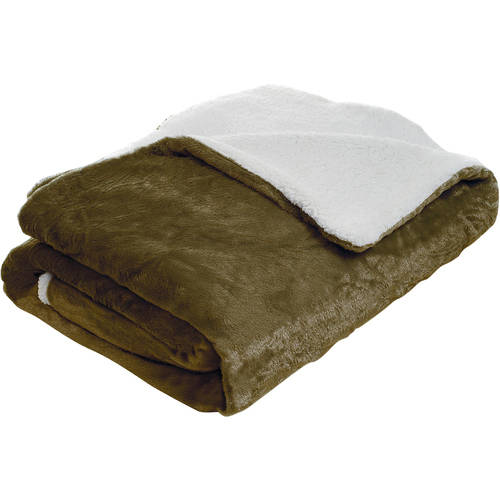Somerset Home Fleece Blanket with Sherpa Backing