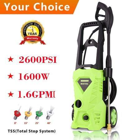 1600W 2600PSI 1.6GPM Electric High Pressure Washer Machine with Nozzle HFON