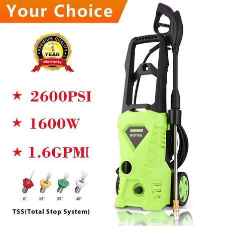 C hristmas Hot Sale!!!1600W 2600PSI 1.6GPM Electric High Pressure Washer Machine with Nozzle HFON