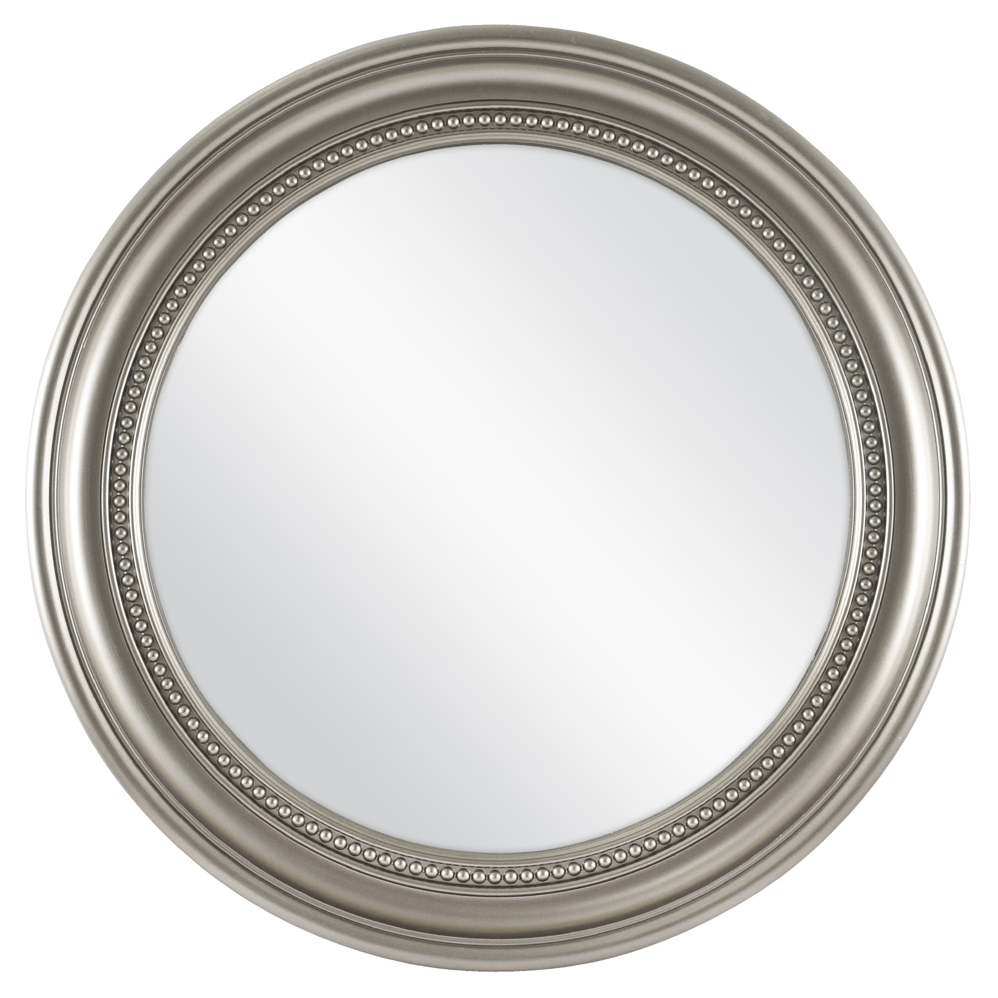 "Mainstays 18"" Silver Beaded Round Mirror by MCS Industries, Inc."