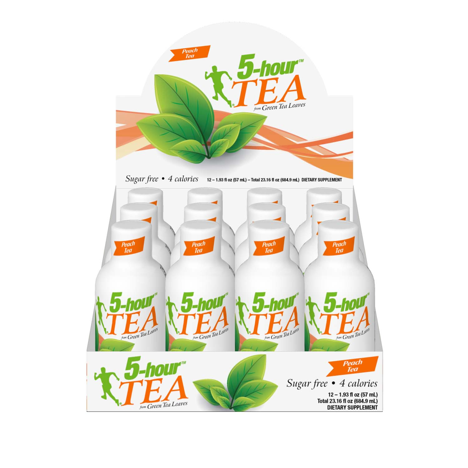 5-hour Tea Peach flavor, 1.93 Fl Oz, 12 Ct