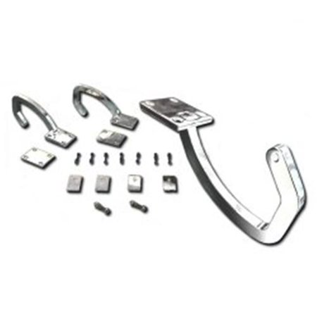 autoloc power accessories auttrh universal paintable / white zinc plated trunk hinge kit