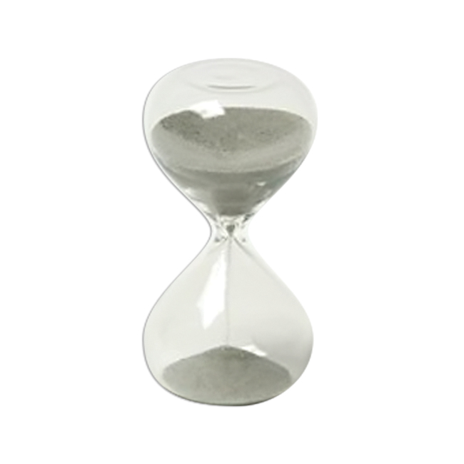G. W. Schleidt STC10-BW Glass Sand Timer with Black & White Sand 4 inch Tall
