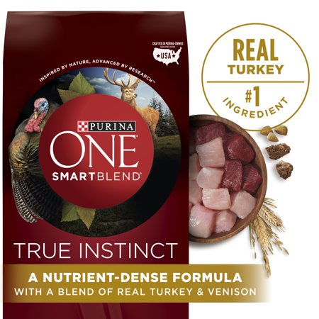 Purina ONE High Protein Natural Dry Dog Food; SmartBlend True Instinct With Real Turkey & Venison - 36 lb. (Best Dog Food For Dogs With Liver Disease)