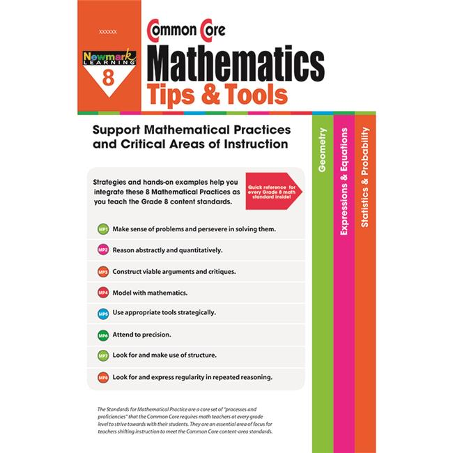Newmark Learning NL-2390 Gr 8 Common Core Mathematics Tips & - image 1 of 1