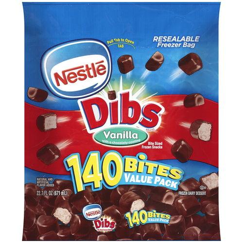 Nestle Dibs Vanilla Frozen Dairy Dessert, 140ct