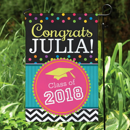 Personalized Congrats Grad! Garden Flag - Personalized Garden Flags