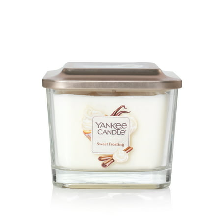 Yankee Candle Elevation Collection with Platform Lid Medium 3-Wick Square Candle, Sweet Frosting