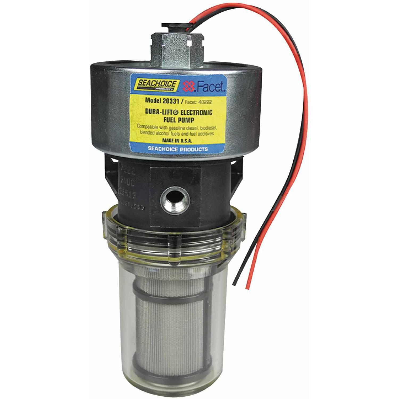 Seachoice 20331 12V Dura-Lift Electronic Fuel Pump, 11.5-9 PSI, 33 GPH by Seachoice Products