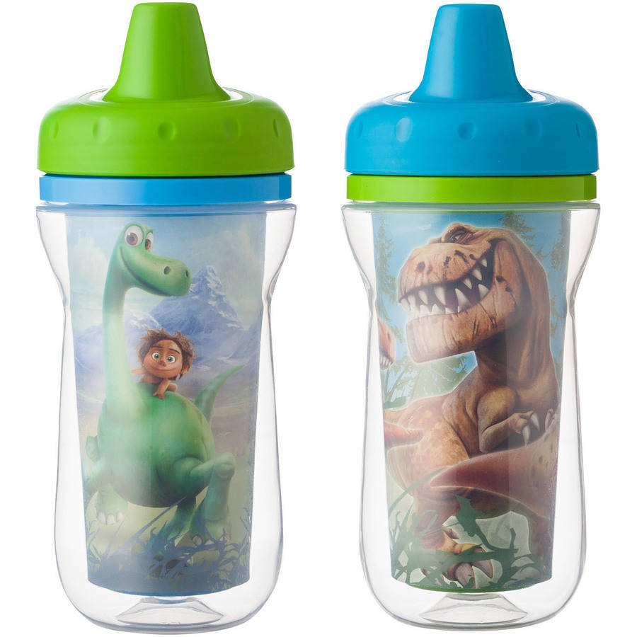The First Years Disney Pixar Insulated Hard Spout Sippy Cup - The Good Dinosaur, 2 pack