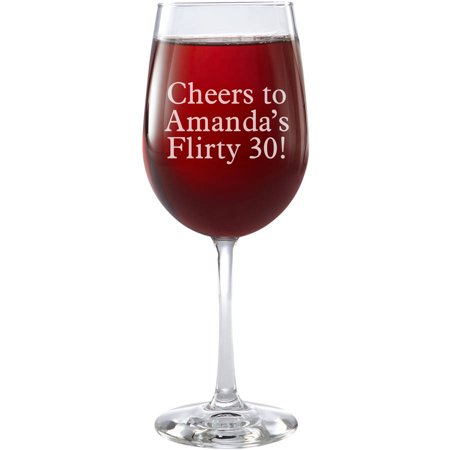 Personalized Create Your Own Stemware Wine Glass, Message, Choose Block or Script - Personalized Drinkware