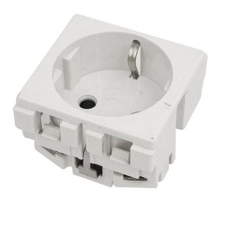 - 250VAC 10A EU Socket Electrical Modular Power Outlet for 86 Wall Plate Panel