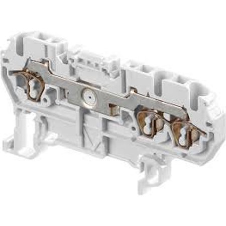 D2.5/5.3L Spring Feed Through Terminal Blocks 1-In 2-Out Gray (5 pieces) - - Terminal Feed
