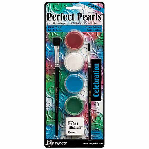Ranger Perfect Pearls Pigment Powder Kit, Celebration