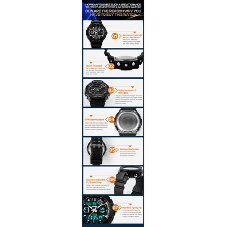 Digital Military Water and Shock Resistant Men's Watch by SKMEI -Wrist Watch Dual Time Stop watch - image 3 of 4