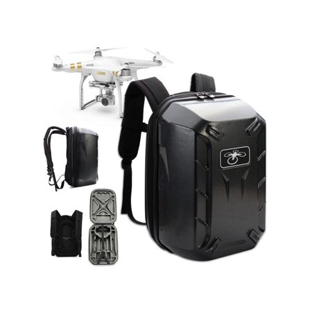 Travel Backpack Hard Shell Waterproof Shoulder Bag Carrying Case For DJI Phantom 4 Professional Advanced,Carbon Fibre color
