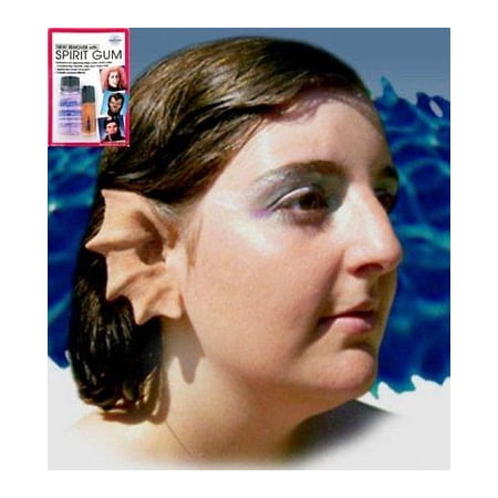Contact Spirit Halloween (Halloween Latex Prosthetic Ears Merfolk Mermaid w/ Mehron Spirit Gum Remover)