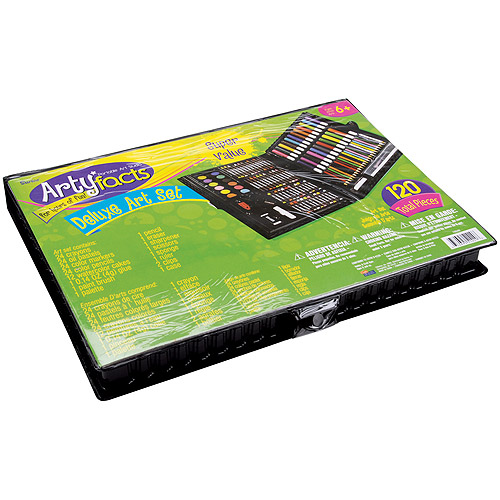 ArtyFacts Portable Art Studio Deluxe Kit, 120pc