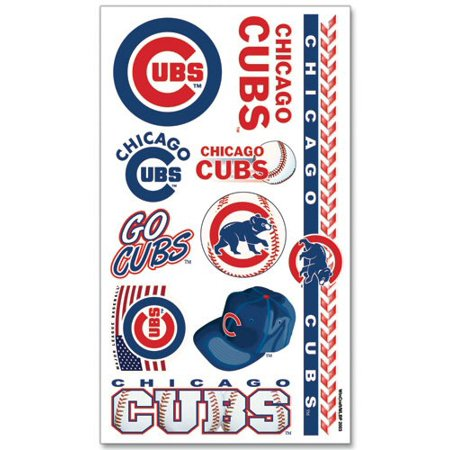 Chicago Cubs Temporary Tattoo Face Decals 10 Pack (Baseball Tattoos)