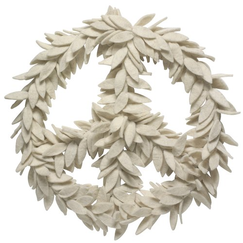 Arcadia Home Peace 14'' Wool Wreath