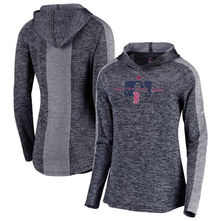 Boston Red Sox Majestic Women's Authentic Collection Ultra-Light Raglan Pullover Hoodie - Navy Womens Authentic Collection