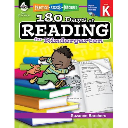 180 Days of Reading for Kindergarten (Grade K) : Practice, Assess, Diagnose - 180 Days Of Reading