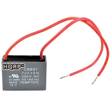 hqrp capacitor for hampton bay ceiling fan cbb61 7uf 2. Black Bedroom Furniture Sets. Home Design Ideas