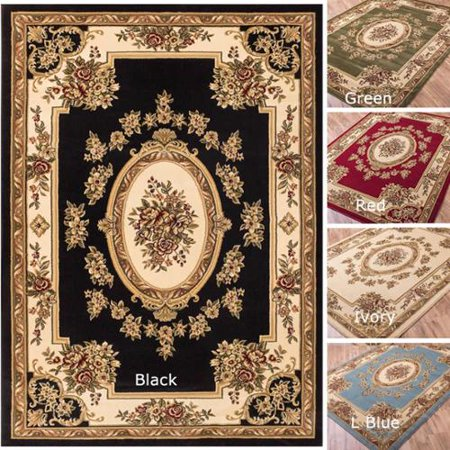 Well Woven  Vanguard French Aubusson European Floral Medallion Thick Plush Area Rug  311 X 53