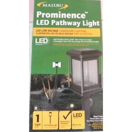 Malibu Low Voltage Led Gun Metal Gray Contemporary Pathway Light