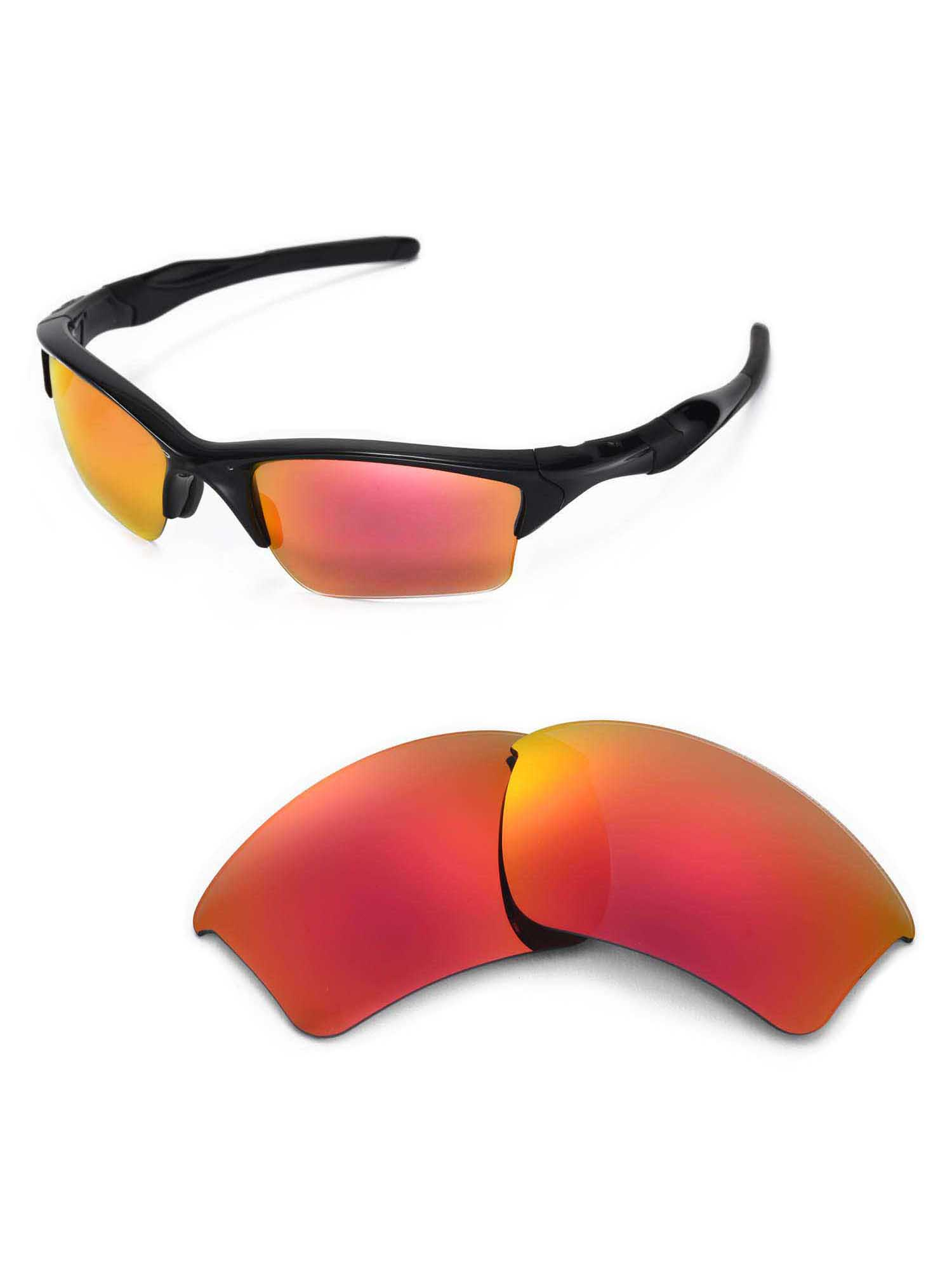 c9ef7af47bb Walleva - Walleva Fire Red Polarized Lenses And Black Rubber Kit For ...