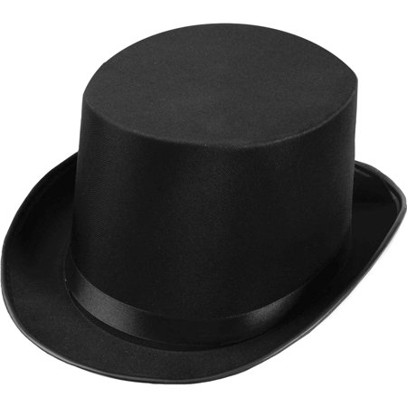 Satin Top Hat Adult Halloween Accessory