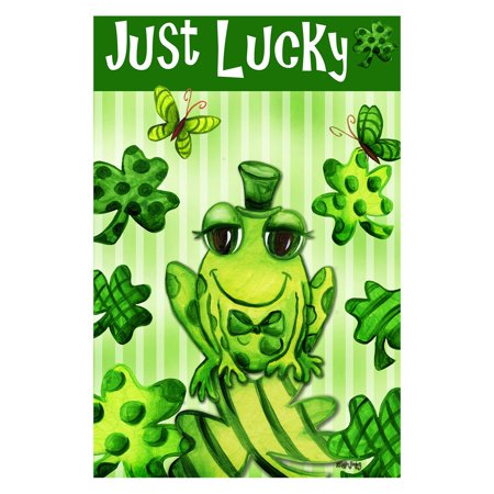 Toland Home Garden Just Lucky Double Sided Flag