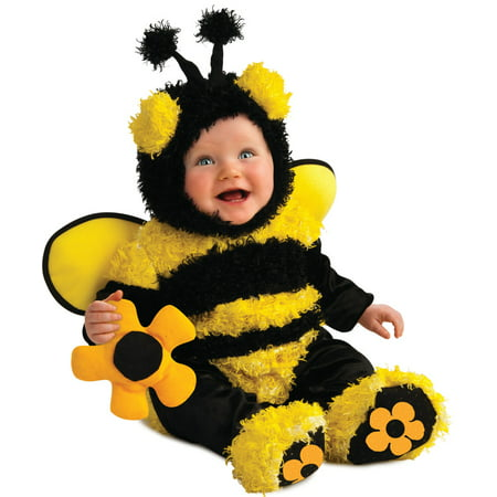 New Childs Fluffy Buzzy Bee Costume With Wings