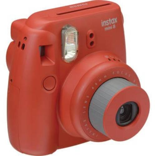 Fujifilm Instax Mini 8 Instant Camera, Raspberry
