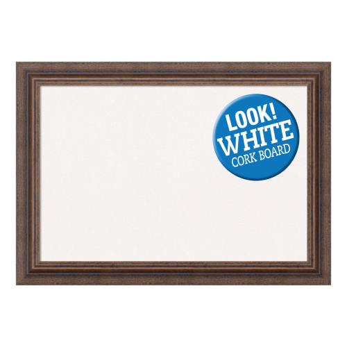 Amanti Art DSWDISCB2115 Distressed 21 Inch x 15 Inch Framed Cork Board