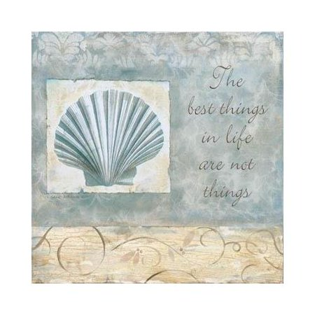 Best Things by Carol Robinson 12x12 Art Print Poster Fan Shell Beach The Best things  things are not