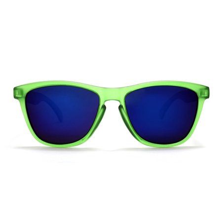 Polarized New Cool Factor Sunglasses - Green Blue -
