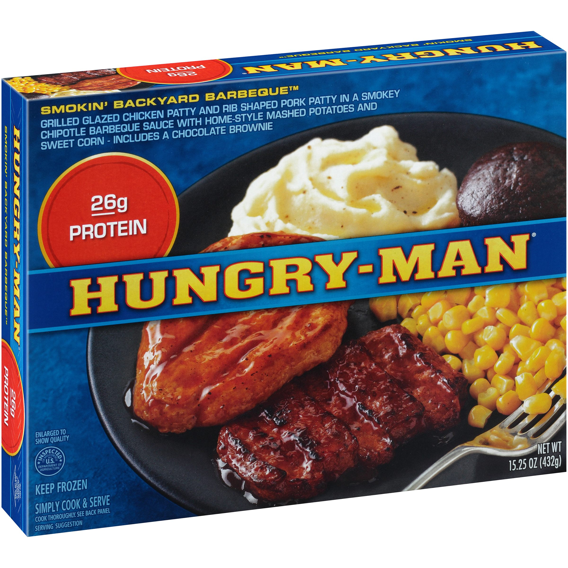 Hungry-Man® Smokin Backyard Barbeque™ 15.25 oz. Box